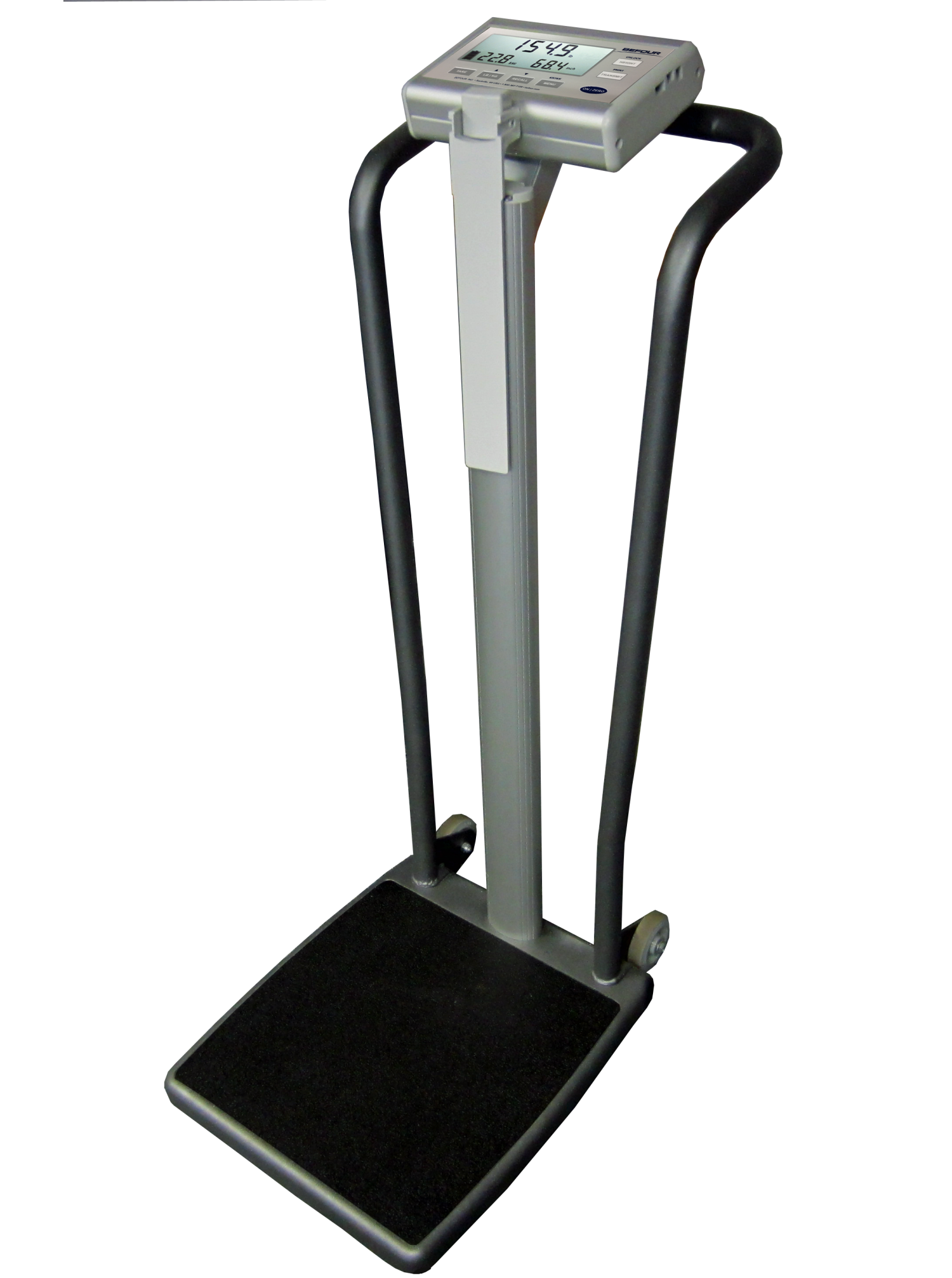 WH-1070 - Tilt & Roll Handrail Scale with Digital Height Rod for Sports and Fitness